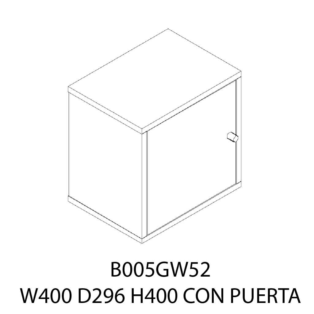 GAVETA AEREA B005GW5209# UNIT/B 40X29X40 RED BROWN C/PUERTA