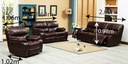 SOFA RECLINABLE VINIL 9931-53# H185# 3P CHOCOLATE