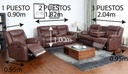 SOFA RECLINABLE R7018F52D# J143# 2PUESTOS CHOCOLATE C/PORTAVASO
