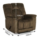 SOFA RECLINABLE TELA CR0050A51# 1PTO D276# CAMEL