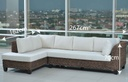 MIMBRE SOFA L* ARABELLA# NATURAL BROWN C/7COJ
