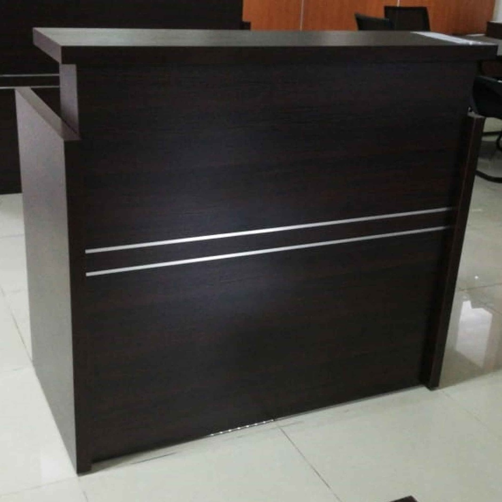 RECEPCION YS-12L# 1.2M WALNUT FRENTE/WALNUT