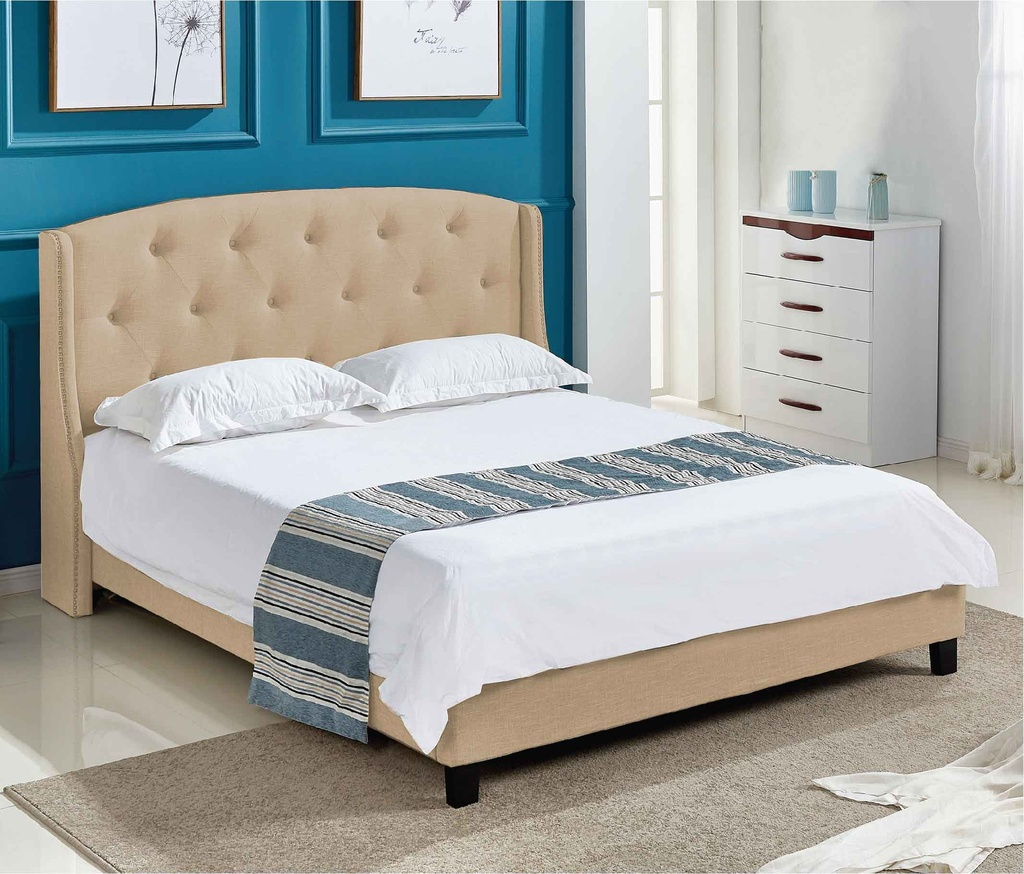 CAMA 1.93X2.03M ML1609# TELA G028-2# BROWN/BEIGE   3CJ