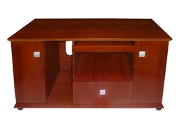 [01000499] CREDENZA MB3018# 1.4M COLOR 601 CHOCOLATE