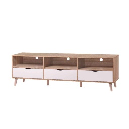[08001302] GABINETE P/TV 19-TV-8# NATURAL/WHITE 179X40X53CM