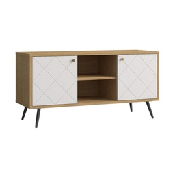 [08001323] GABINETE P/TV B007GT0201# 120X39X57CM W20OAK+W01 BLANCO 2CJ