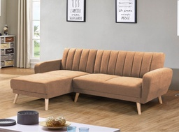 [06003770] SOFA CAMA TELA ZY-665F# 1703-2# BROWN 231CM+PIECERO 4CJ